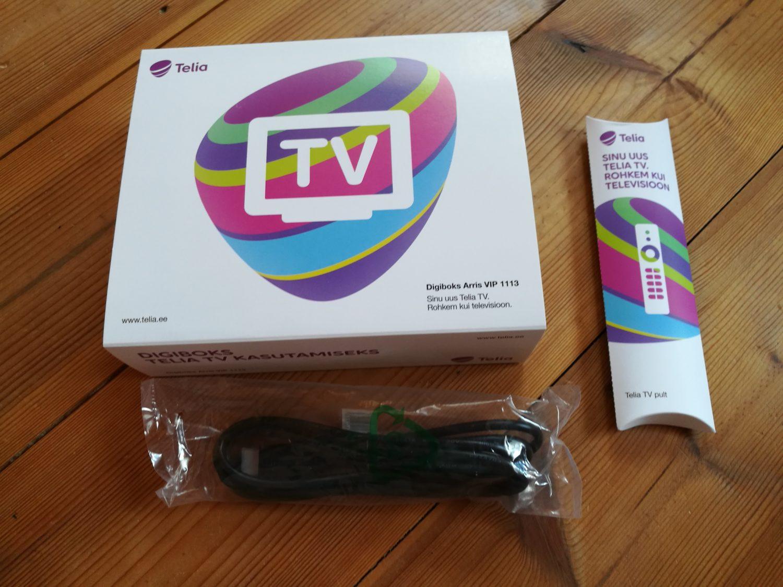 """Odav """"lõbu"""" see pole: uus Telia TV digiboksi kolmplekt maksab 100 eurot."""
