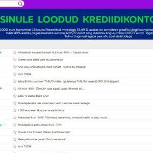 Online.ee keskkond. E-maili aadressid on salastatud