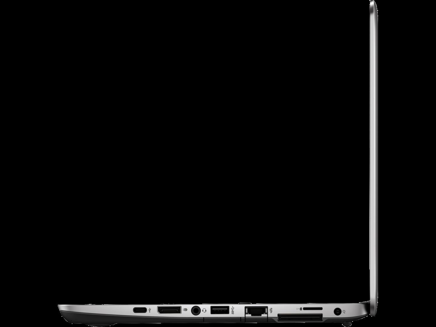 Paremal küljel USB Type-C, DisplayPort 1.2, Audio combo jack, USB 3.0, RJ-45, dokkimisliides, SIM-kaardi pesa