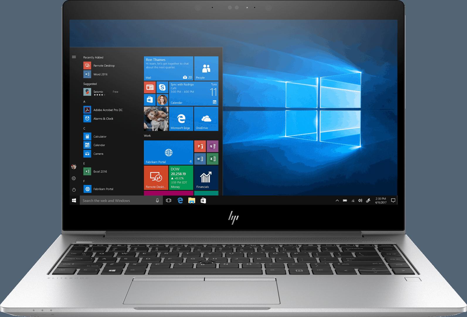 HP Elitebook 745 G5 front-facing